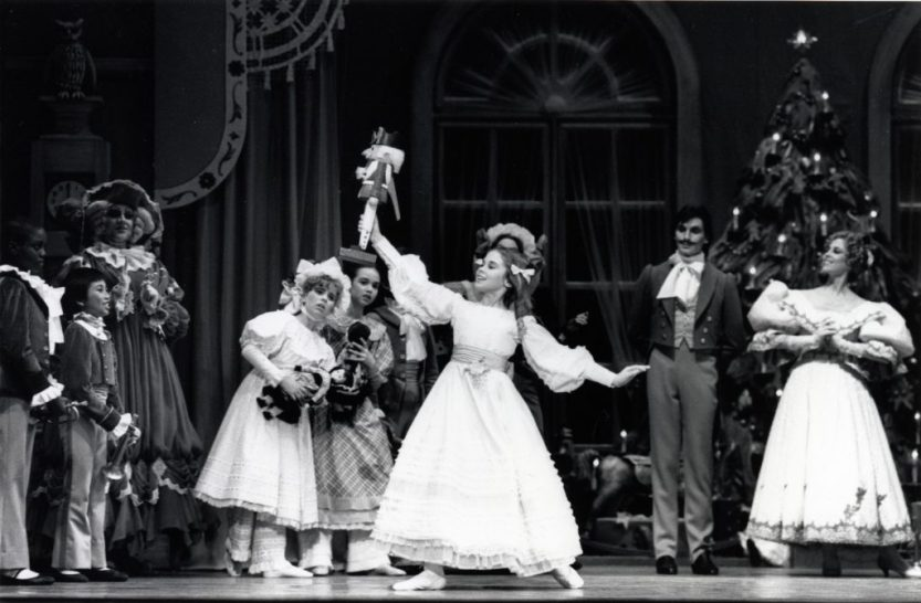 Kate Lydon as Clara in Lew Christensen's Nutcracker, 1986. (© Marty Sohl. Photo courtesy of SFMPD.)