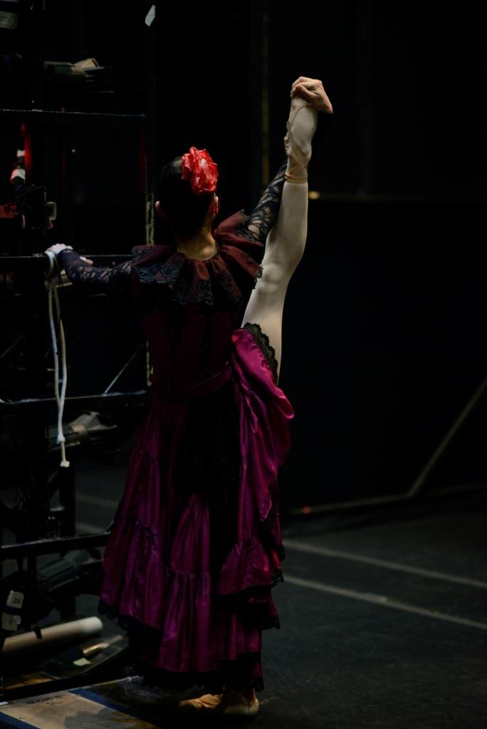 Dores André backstage during Wheeldon's Cinderella©. (© Erik Tomasson)