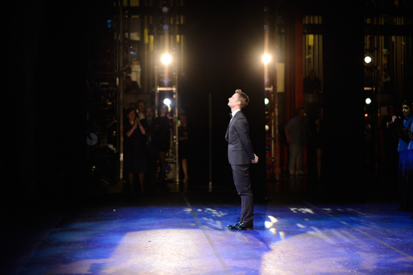 Christopher Wheeldon onstage after a performance of Wheeldon's Cinderella©. (© Erik Tomasson)