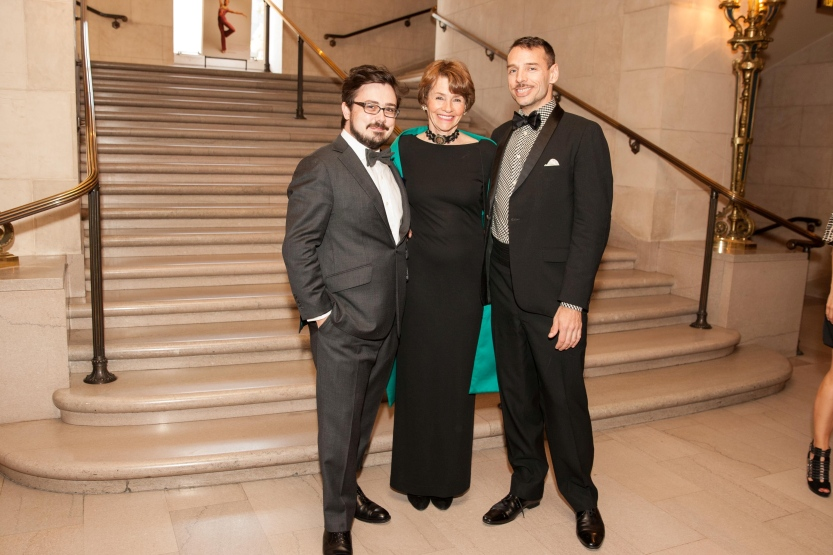 Basil Twist (right) with his mother Lynn Twist and Daniel Brodie // © Drew Altizer