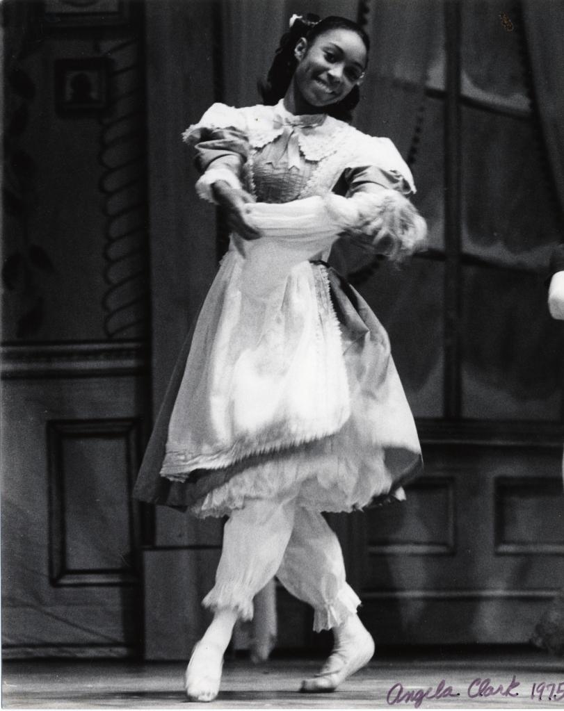 "Angela Clark as Clara in Lew Christensen's ""Nutcracker"", 1975. (© Pat Quinlan. Courtesy of the Museum of Performance + Design)"