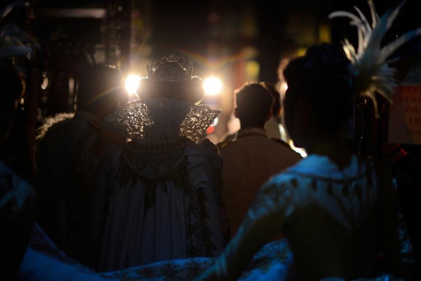 Backstage during Wheeldon's Cinderella©. (© Erik Tomasson)